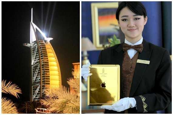 iPad dát vàng để phục vụ khách hàng của khách sạn 7 sao Burj Al Arab