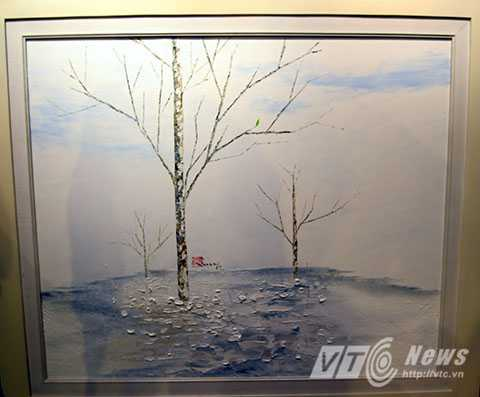 Tác phẩm 'Hồn cây' của họa sĩ Trần Gia Tùng