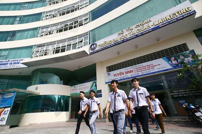 Trường ĐH Tài chính - marketing và Trường ĐH Hà Nội là hai trường vừa được Thủ tướng Chính phủ phê duyệt đề án thí điểm đổi mới cơ chế hoạt động giai đoạn 2015-2017 - Ảnh: Như Hùng