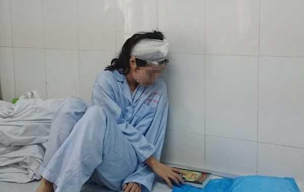 Hiện tại L. vẫn đang được điều trị tại bệnh viện Tuệ Tĩnh. Ảnh: Thanh Hà.