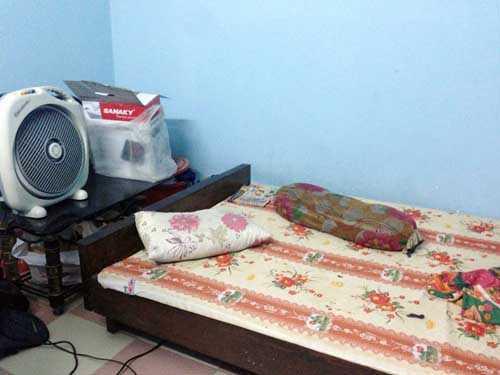 Căn phòng nơi nam thanh niên muốn 'ngủ nhờ' và cố thủ bên trong
