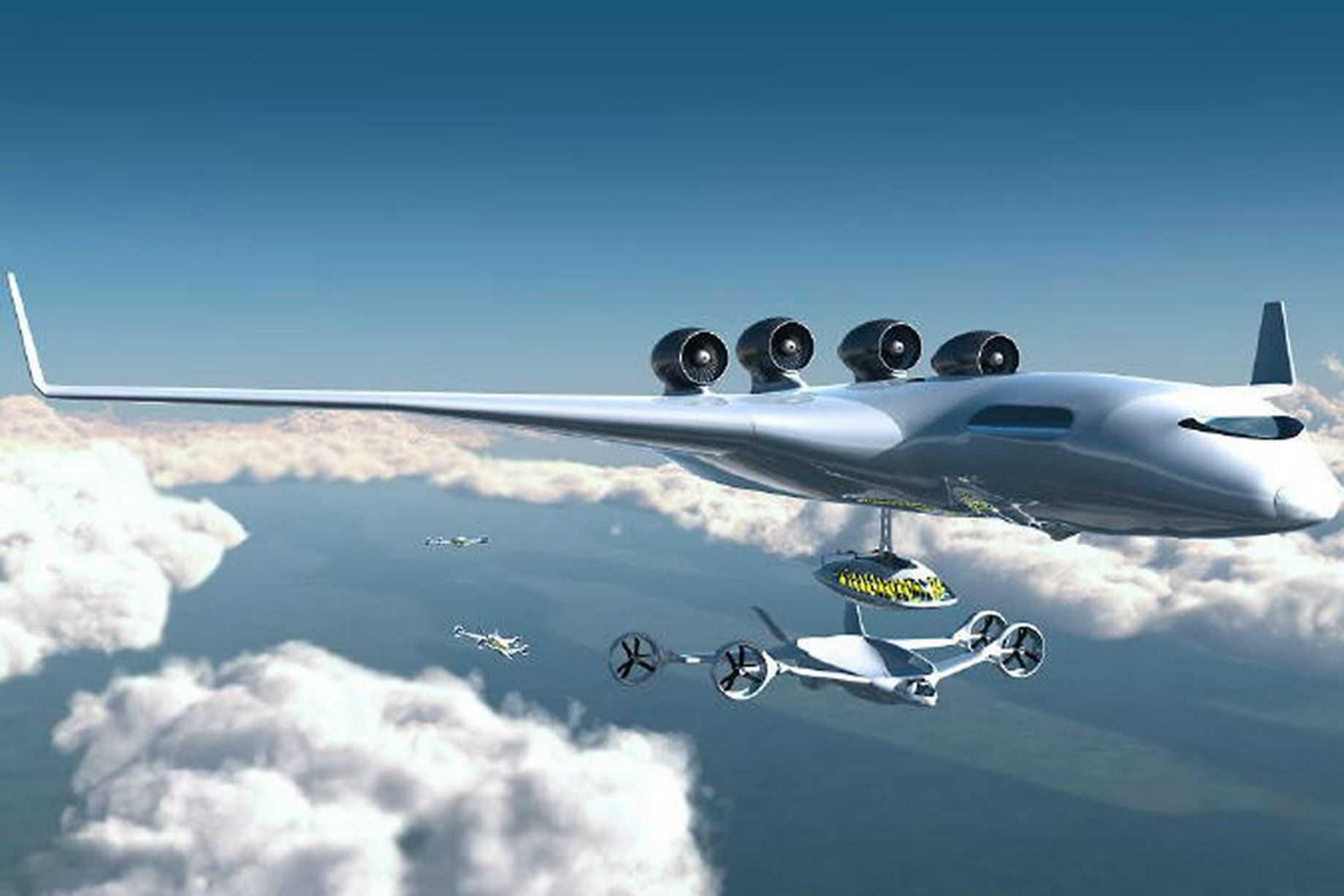 Trung chuyển hành khách giữa không trung là tương lai mới của ngành hàng không
