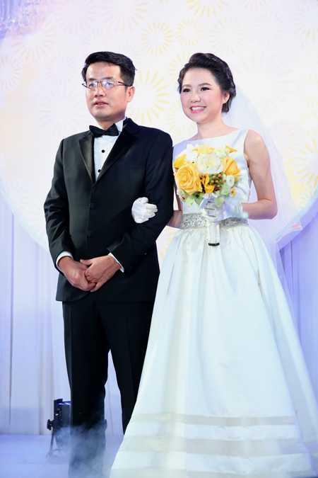 Ngô Quỳnh Anh trong đám cưới đầu năm 2014.