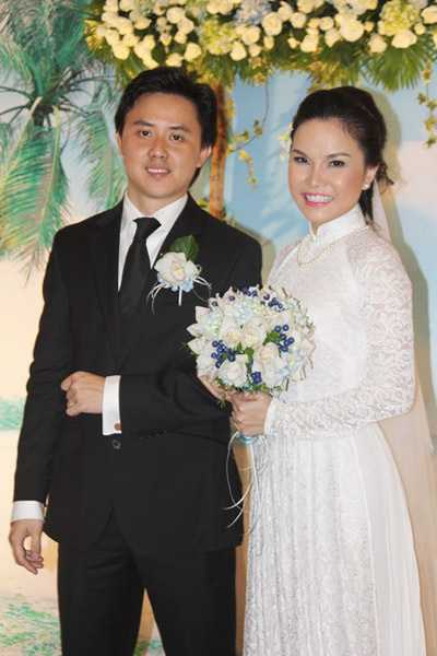Thu Ngọc trong đám cưới cuối năm 2012.