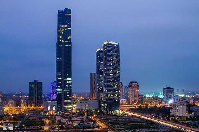 Tòa nhà Keangnam Landmark 72 ở Hà Nội - một dự án đầu tư tại Việt Nam của tập đoàn Keangnam Hàn Quốc.