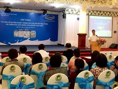 Ông Nguyễn Ngọc Thành – Giám đốc kinh doanh miền Trung, Vinamilk chia sẻ với người tiêu dùng những thông tin về công ty