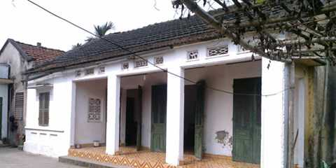 Ngôi nhà của gia đình bà Nụ