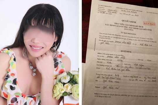 Cô giáo Quỳnh Trâm, người chuyển giới từng được cấp chứng nhận xác định lại giới tính.