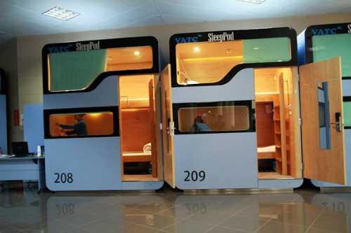 Hộp ngủ có không gian yên tĩnh, đảm bảo sự riêng tư cho du khách. Ảnh: VATC
