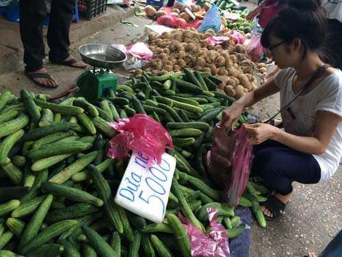 Nhiều người mua cả yến hoa quả về ăn vì giá hiện chỉ có vài ngàn đồng một cân