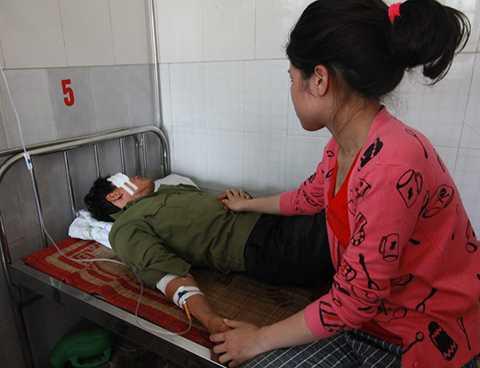 Ông Nguyễn Đức Toán đã được chuyển lên Bệnh viện Hữu nghị Việt Tiệp Hải Phòng cấp cứu, điều trị