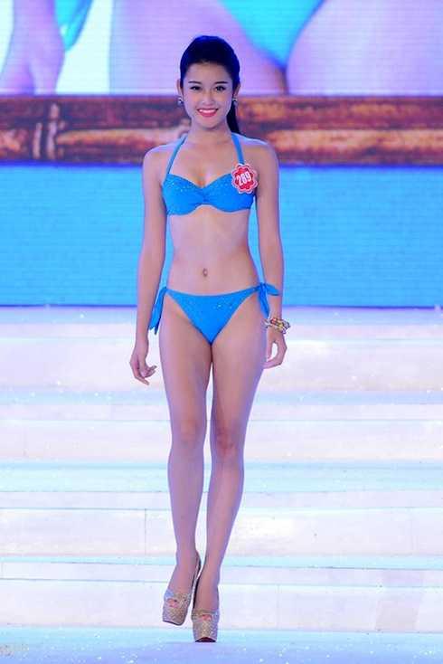 Huyền My trong thời điểm đang dự cuộc thi Hoa hậu Việt Nam 2014