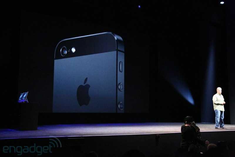 Hình ảnh iPhone 5 trong lễ ra mắt của Apple