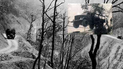 Lái xe trên dây cáp là câu chuyện thần kỳ trên đường Trường Sơn