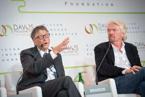 Bill Gates (trái) và Richard Branson (phải) có nhiều câu nói rất nổi tiếng. Ảnh: Pinchuk Fund