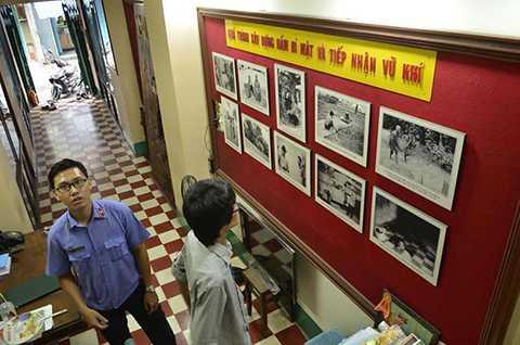 Bên trong ngôi nhà được công nhận là di tích lịch sử cấp quốc gia, ở đường Võ Văn Tần, P.5, Q.3, TP.HCM.