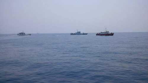 Lực lượng chức năng tìm kiếm máy bay Su-22 gặp nạn vào ngày 16/4 (Ảnh: Báo Thanh niên)