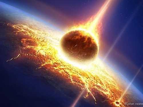 Nếu thiên thạch va vào nơi có lớp đất đá trầm tích dễ thay đổi trên Trái đất,  vụ va chạm này thể thải ra những chất khí làm biến đổi khí hậu vào bầu khí quyển khiến cho sự sống bị hủy diệt hàng loạt.