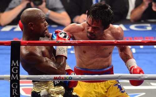 Mặc dù tỏ ra lấn lướt ở nhiều hiệp đấu và sung sức đến cuối trận nhưng Pacquiao vẫn để thua Độc cô cầu bại Mayweather  (Ảnh: Getty)