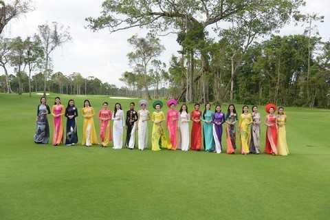 Sân golf Vinpearl Phú Quốc từng diễn ra các hoạt động bên lề của Cuộc thi Hoa hậu VN 2010