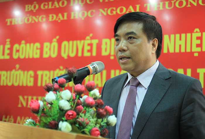 PGS-TS Bùi Anh Tuấn, hiệu trưởng mới của ĐH Ngoại thương