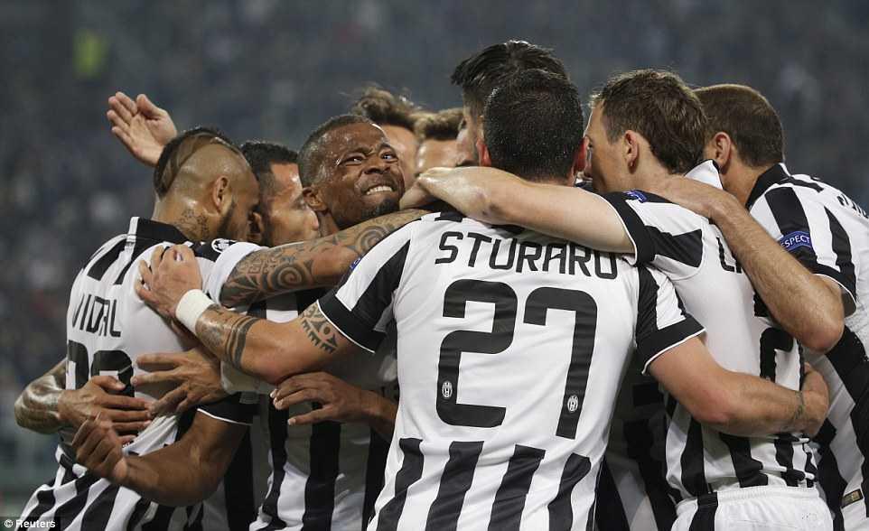 Niềm hạnh phúc của các cầu thủ Juve