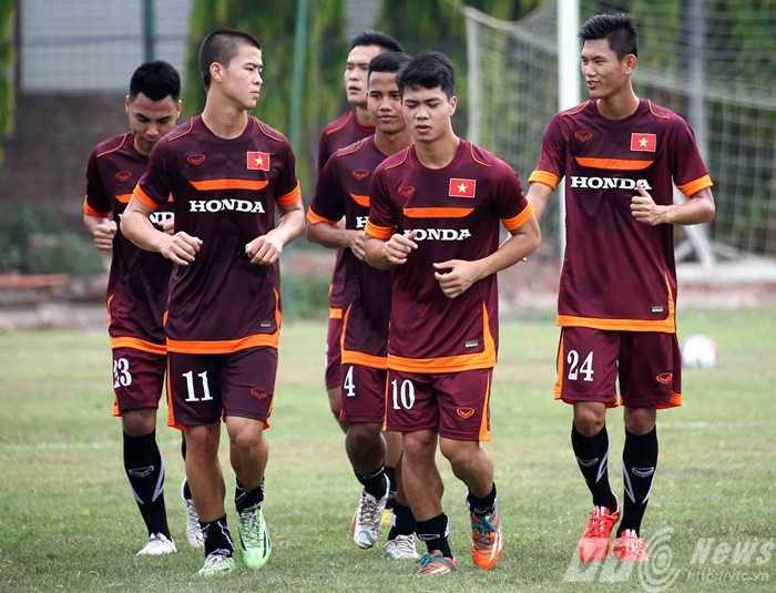 Công Phượng được thăng hạng lên tuyển Việt Nam (Ảnh: Quang Minh)
