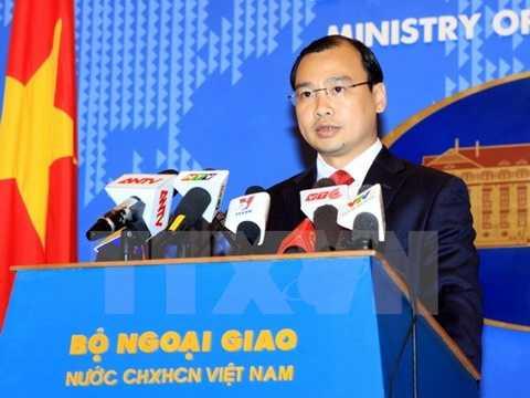 Người Phát ngôn Bộ Ngoại giao Việt Nam Lê Hải Bình. (Ảnh: An Đăng/TTXVN)