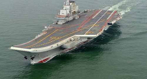 Tàu sân bay Trung Quốc hoạt động trên biển