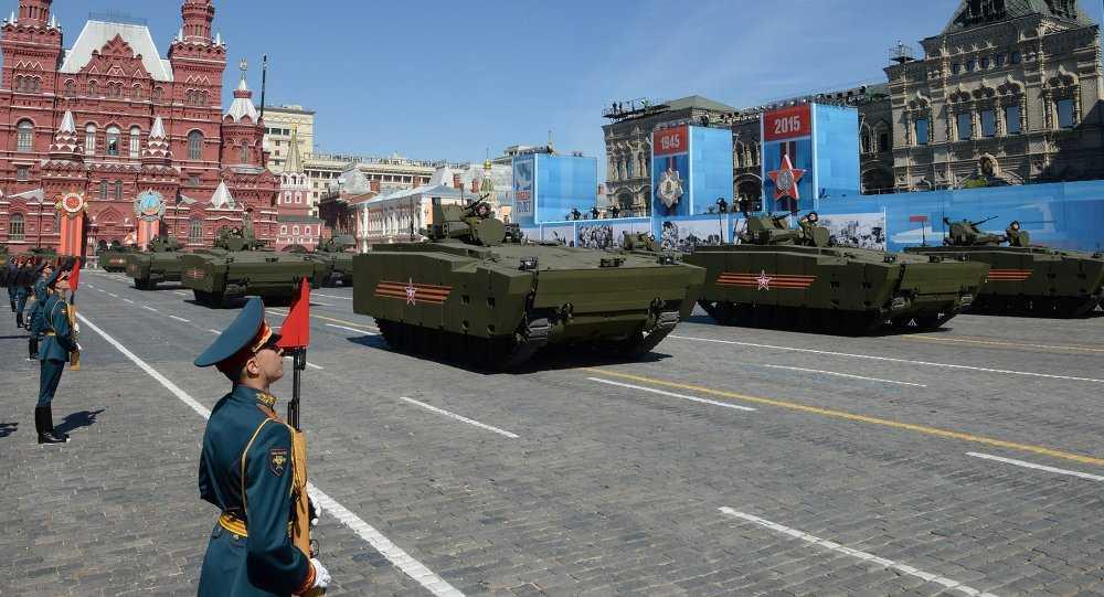 Các phương tiện quân sự của Nga trong lễ duyệt binh kỷ niệm 70 năm chiến thắng Phát xít
