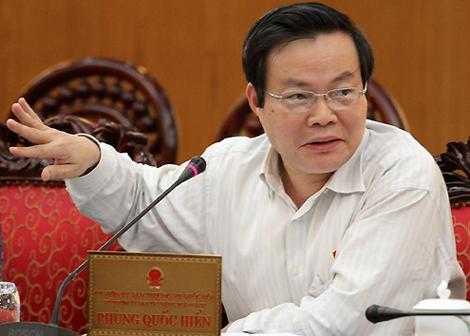 Ông Phùng Quốc Hiển, Chủ nhiệm Ủy ban Tài chính Ngân sách của Quốc hội