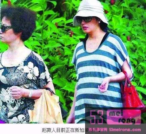 Hình ảnh Triệu Vy mang bầu không lâu sau cuộc chia tay giữa Diệp Thúy Thúy với Huỳnh Hữu Long.