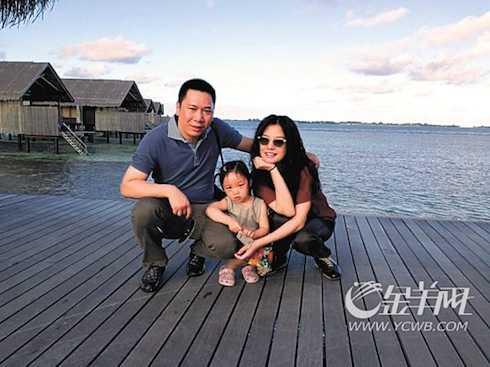 Gia đình hạnh phúc hiện tại của Triệu Vy.