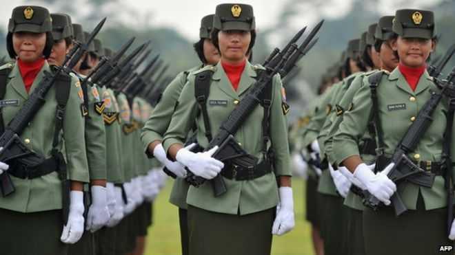 Nữ binh sỹ Indonesia