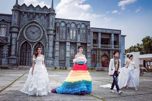 Show diễn happy color trình diễn váy cưới cho người đồng tĩnh bị hoãn lịch diễn