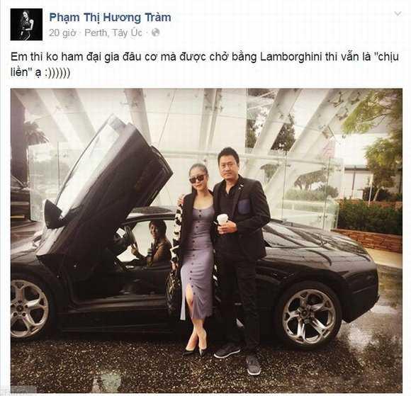 Hương Tràm chia sẻ cô không thể cưỡng lại              việc được ngồi trên siêu xe này: