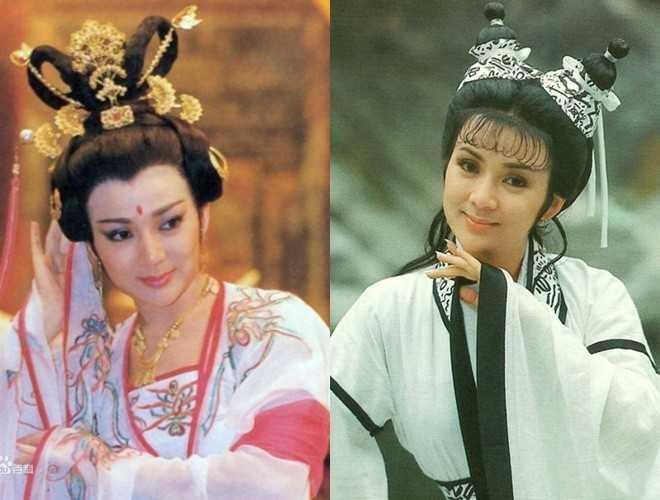 Phùng Bửu Bửu trong vai Võ Tắc Thiên (trái) và Tây Thi.