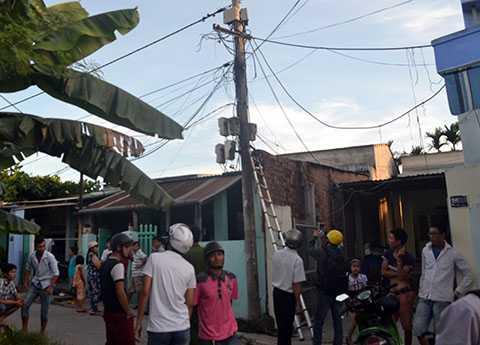 Hiện trường vụ chập điện khiến 1 thanh niên chết tại chỗ