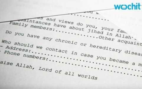 Mẫu đơn xin việc của al- Qaeda dành cho các chiến binh thánh chiến