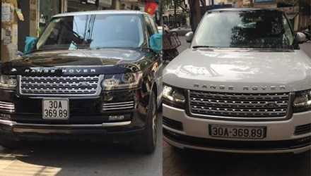Hai chiếc xe mang biển số giống hệt nhau. Ảnh: CTV.