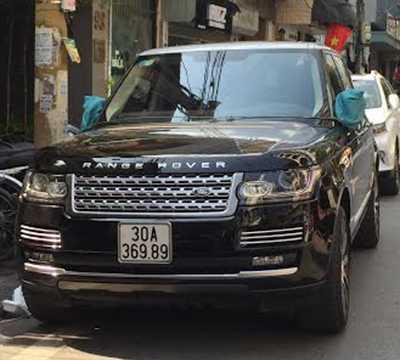 Chiếc Range Rover màu đen. Ảnh: CTV.