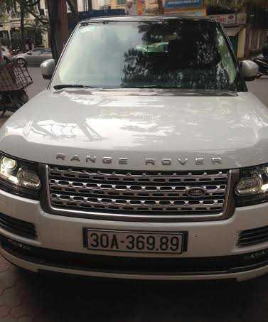 Chiếc xe Range Rover màu trắng. Ảnh: CTV.
