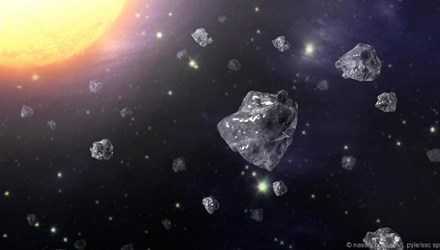 Một mẩu thiên thạch Almahata Sitta (màu đen). Ảnh:NASA.