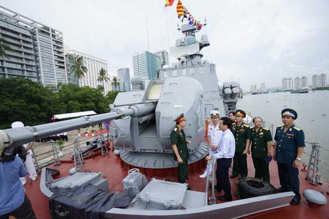 Việc đưa vào biên chế những tàu tên lửa tấn công nhanh này góp phần nâng cao năng lực chiến đấu, bảo vệ chủ quyền Tổ quốc - Ảnh: Quang Định