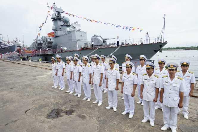 Lễ bàn giao tàu tên lửa - Ảnh: Quang Định