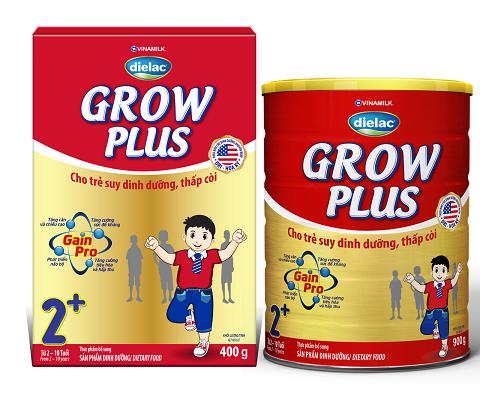 """Dielac Grow Plus với 4 lợi ích nổi trội """"đặc chế"""" cho trẻ suy dinh dưỡng thấp còi, giúp trẻ bắt kịp đà tăng trưởng"""