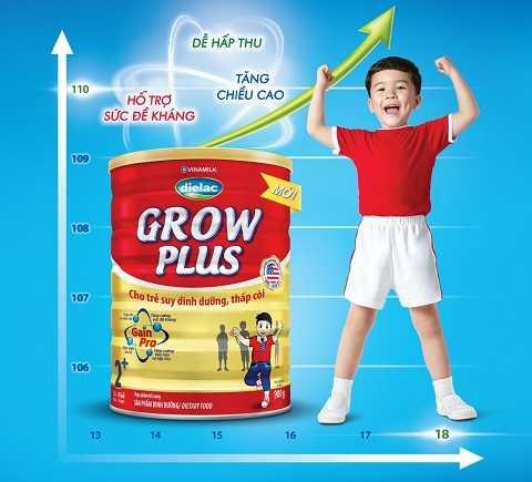 """Dielac Grow Plus """"đặc chế"""" cho trẻ suy dinh dưỡng, thấp còi bắt kịp đà tăng trưởng"""