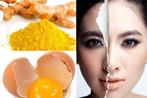 Bộ nghệ và lòng trắng trứng là cách đơn giản dễ làm giúp bạn trị nám.