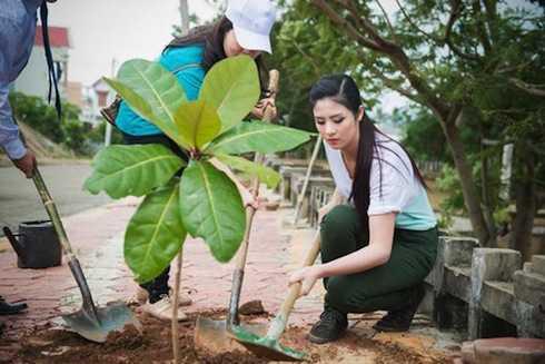 Ngọc Hân trồng cây vì môi trường, nhưng các đồng nghiệp của cô có nhiều ý tưởng sáng tạo hơn...