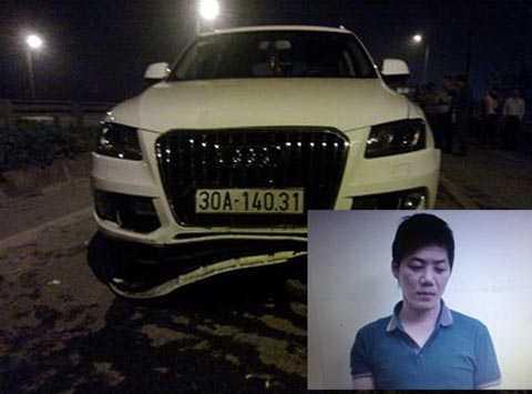 Chiếc Audi Q5 gây tai nạn và Trịnh Thế Tuấn.